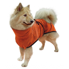 Hundebademantel orange